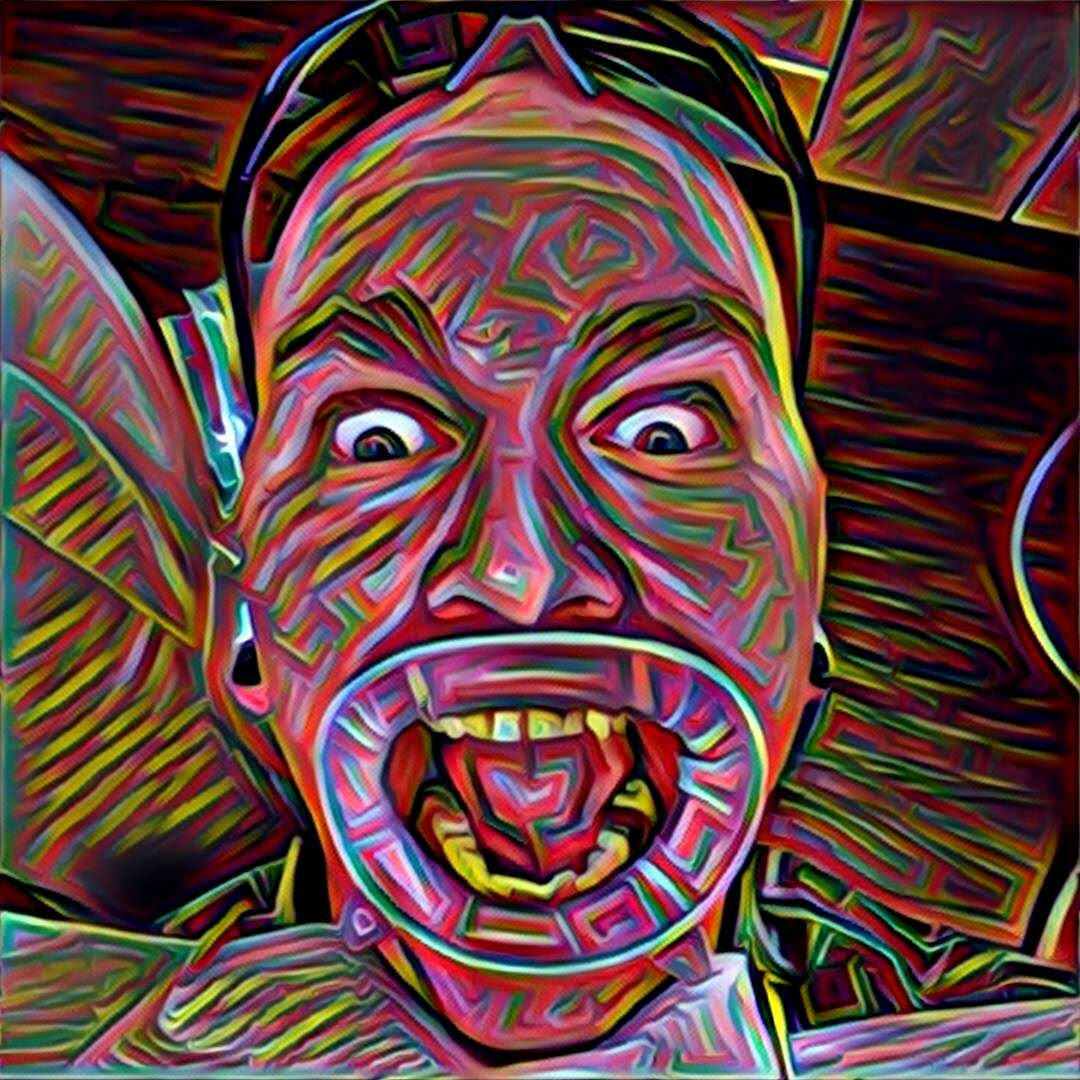 Me at the dentist with another Prisma filter